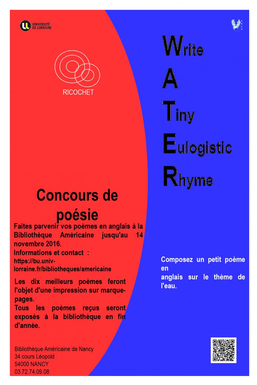 Inauguration Dune Exposition De Poèmes En Anglais Sur Leau