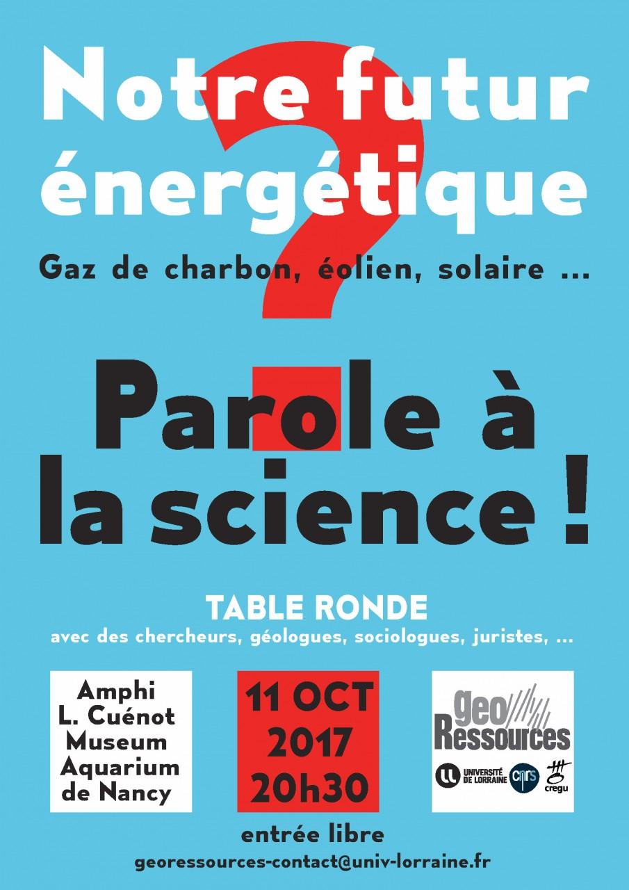 Notre futur nerg tique parole la science factuel - Laisserons nous a notre table paroles ...