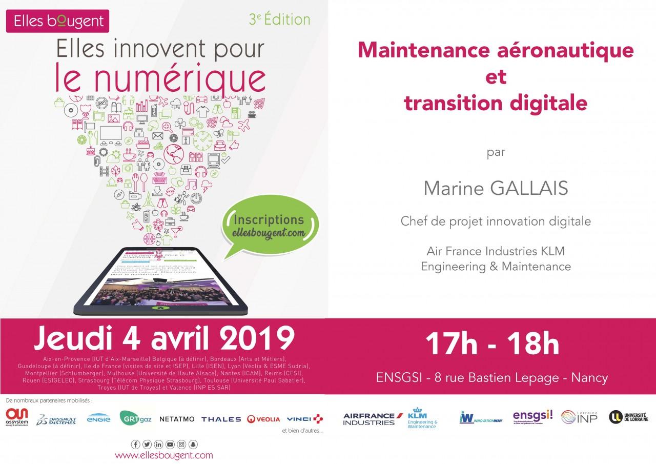 Conference Ingenieure Innovation Conjuguer Maintenance Aeronautique Transition Digitale Factuel